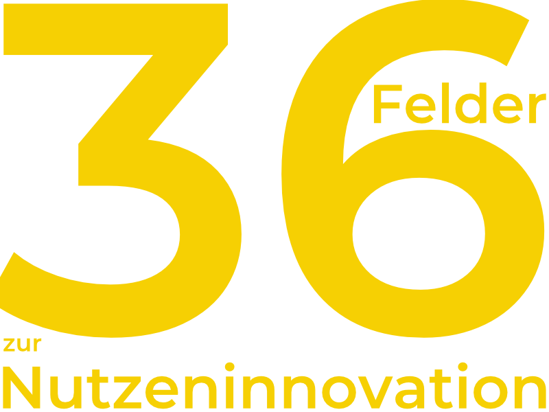 36 Felder zur Nutzeninnovation